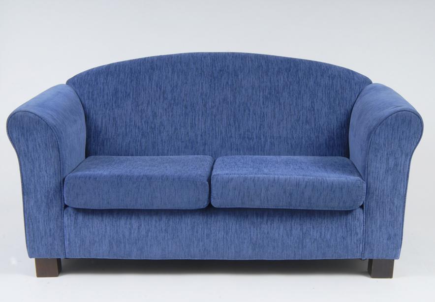 2 Seat Sofa (Basic Plus) blue in colour