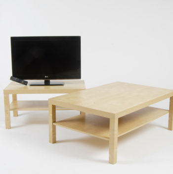 Basic plus coffee table and tv stand