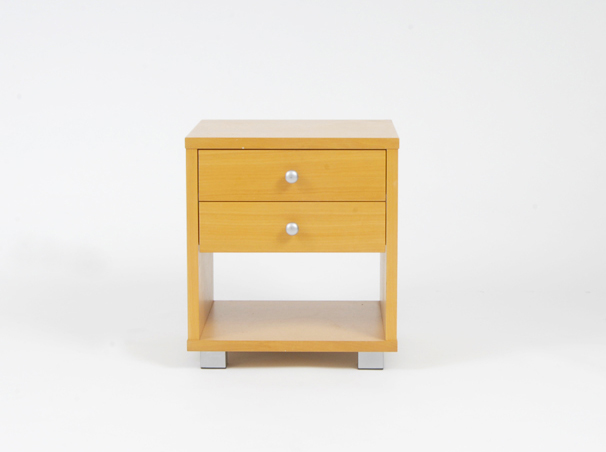 2 drawer beach bed side table