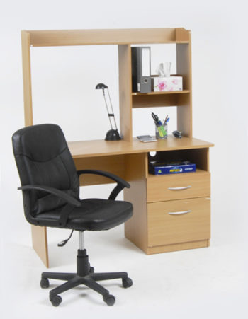 2 drawer desk with hutch