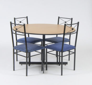 5pce Dining table and 4 chairs beach