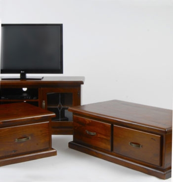 Tv stand coffee table and side table in solid timber