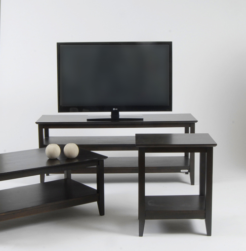 Timber tv stand and coffee table for hire