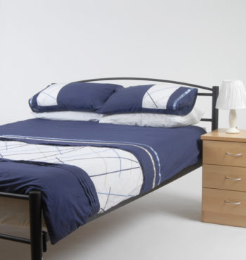 Queen bed made up