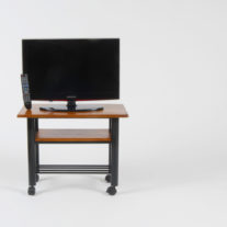 tv stand with a 66cm tv
