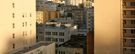 View Of The City From An Apartment Building