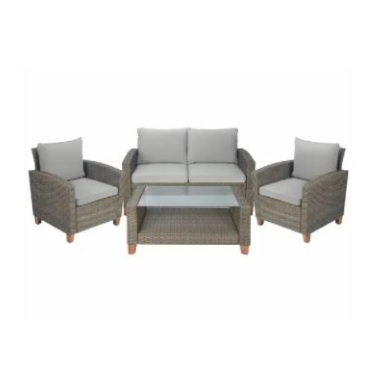 Outdoor Lounge Setting 4 Piece